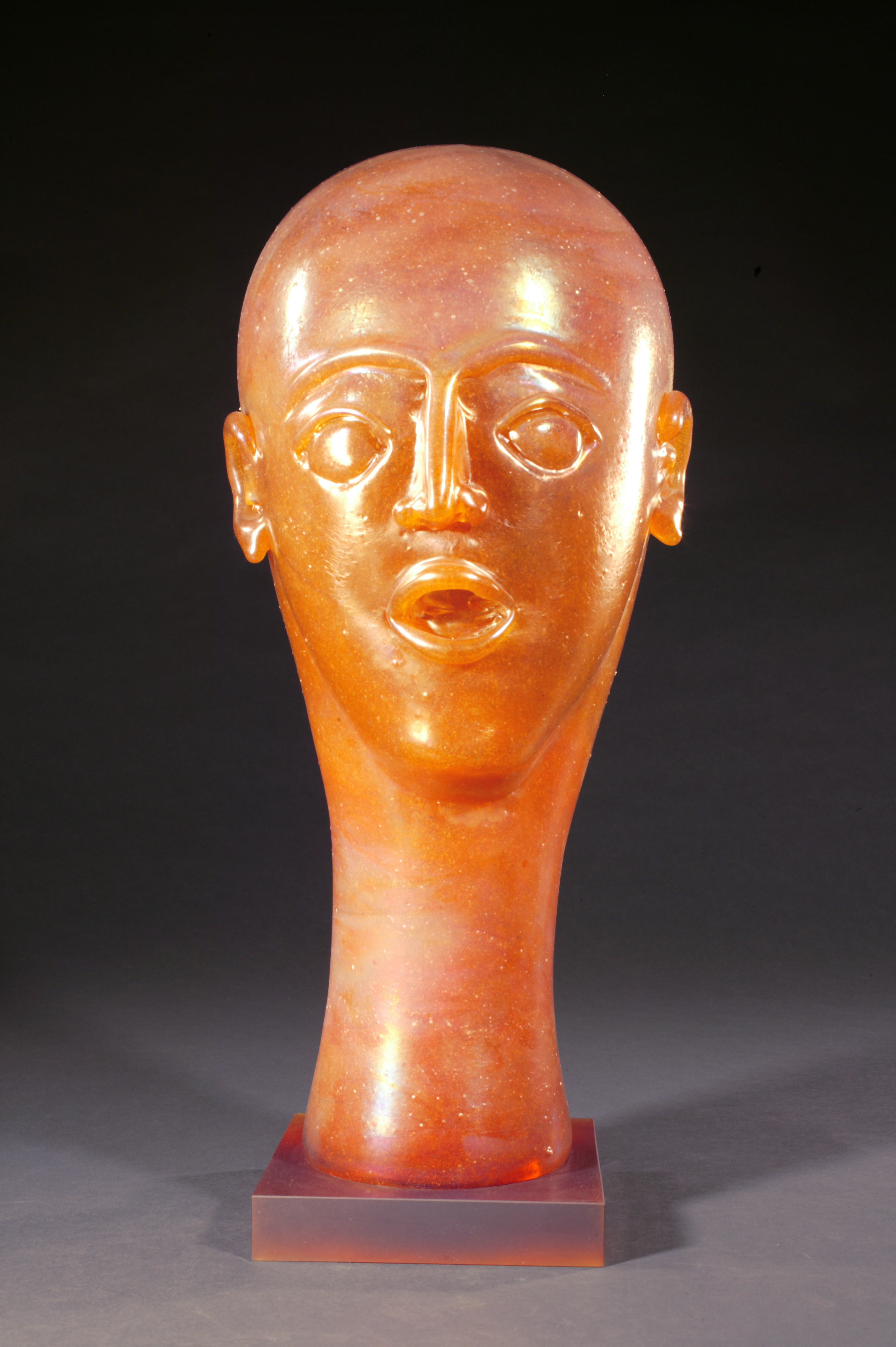 Head  as Egg Iridescent Amber with Cosmic Crown
