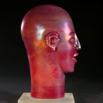 Red Iridescent Bust