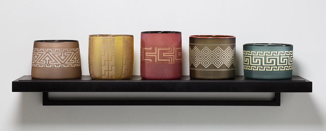 Preston Singletary Indian Curio Shelf Fine Art Glass