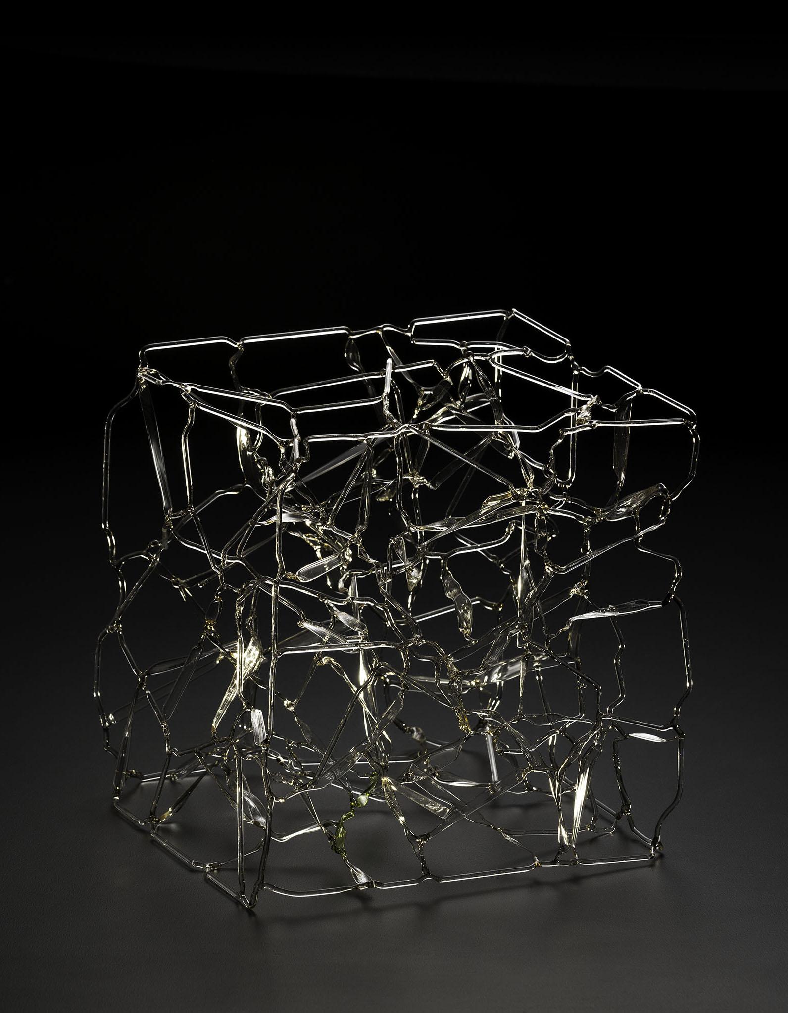 Anna Skibska Small Cube Fine Contemporary Art Glass