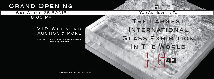 43rd Glass Internatinoal April 23-25 2015 Habatat Galleries