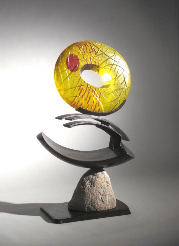 Habatat Galleries Oval Flux Contemporary Glass Art