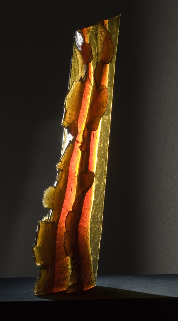 3 Zora Palova Red Waves-Flames,2009,cast,cut topaz110x35x20cm