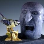 Anger I,David Reekie Sept 08 27hx26wx17d cm.jpg closeup