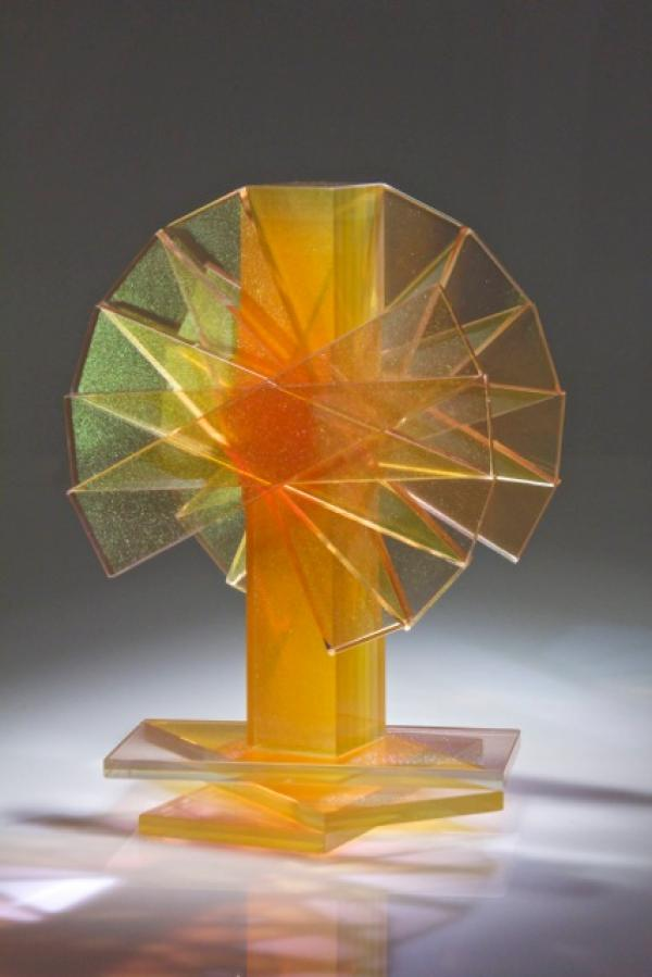 Sidney Hitter Shifting Transmission #6 Contemporary Fine Art Glass