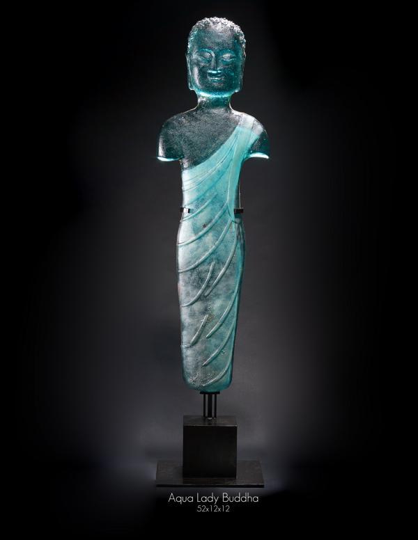 Aqua Lady Buddha 52hx12wx12d