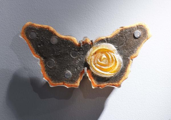 Butterfly - 14 inch - Dark Amber with Orange Rose - Marlene 2020-11-1 Imagine93460