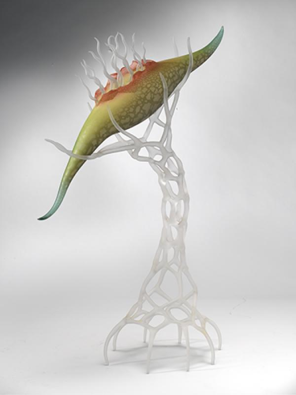 Contemporary Fine Art Glass Organism Alien 1998