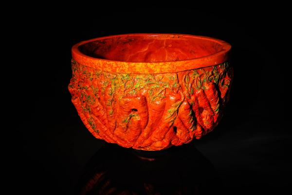 Charles Miner Kitchen Carrot Bowl Contemporary Fine Art Glass