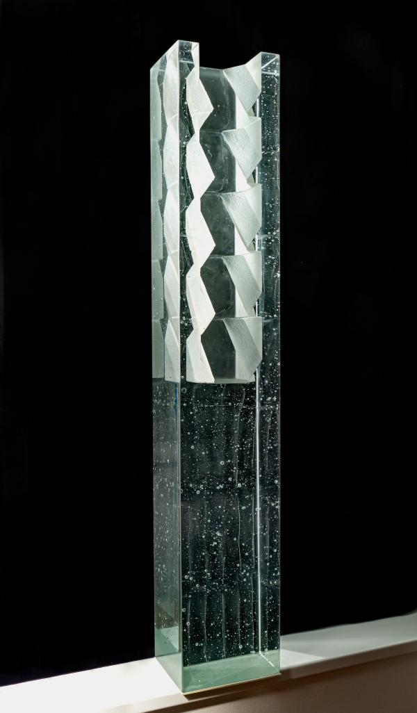 Stepan Pala,Column Half-Half,2019,mould-melted,cut crystal glass,145x25x21