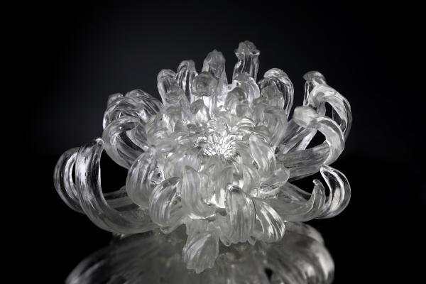 LIULI Crystal Art Chrysanthemum Dance