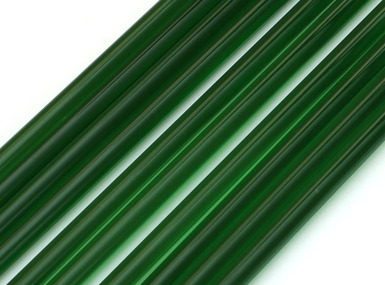 green glass rods